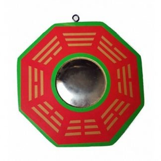 BaGua Mirror House Protection Red Feng Shui Enhancer