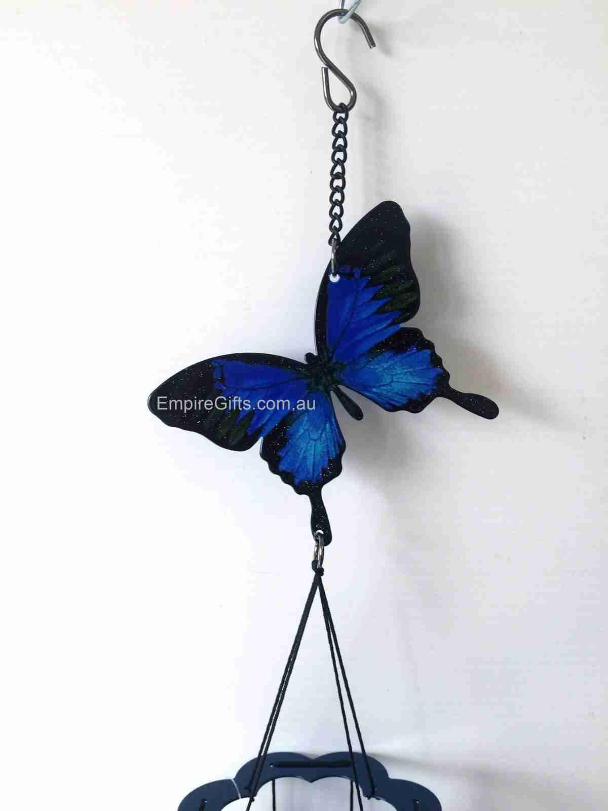 Ulysses Butterfly Wind Chime Blue Ulysse...