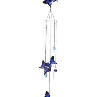 wind-chime-blue Ulysses-butterfly metal-glass-
