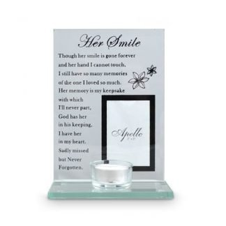 her smile candle holder
