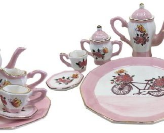 TEASET MINI PINK BIKE DECADENCE PLATE 13.5CM