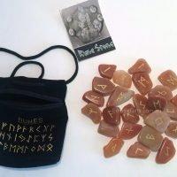 25pc Runes Natural Earth Tones Gemstones