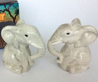 Salt & Pepper Set Ceramic African Elephants
