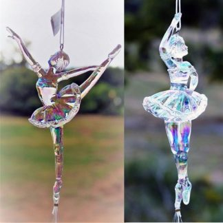 Acrylic Dancer Ballerina Crystal Stlye Wind Chime Ballet Figurine