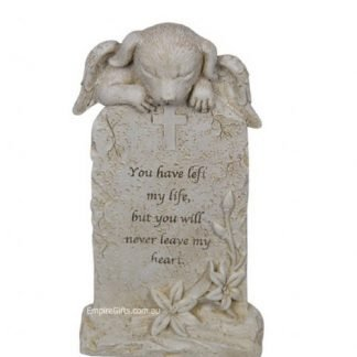 Angel Cat Memorial Statue Inspirational Plaque Pet Memorial