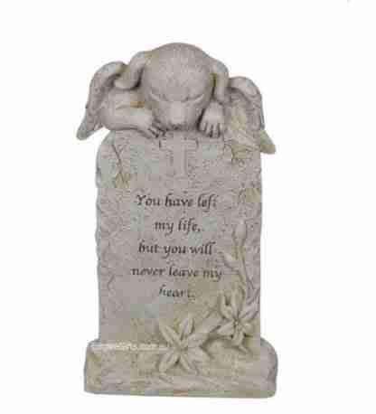 Angel Cat Memorial Statue Inspirational Plaque Pet Memorial