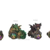 Baby Dragon with Crystal Gem Various Colours Gothic