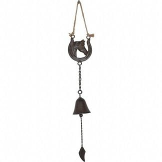 Cast Iron Lucky Horse Shoe Hanging Bell