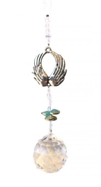 Crystal Guardian Angel Wings Suncatcher