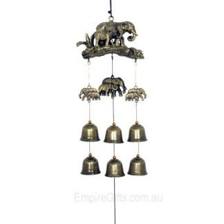 elephant family bells wind chime