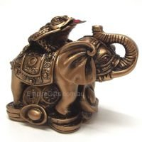 Elephant Statue with Money Frog Feng Shui Statue