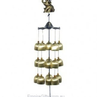 Elephant Wind Chime Brass Bells Trunk Up
