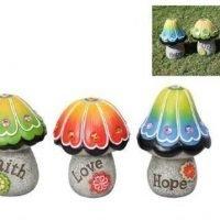 Fairy Garden Figurine Mushroom Garden Rock 18cm