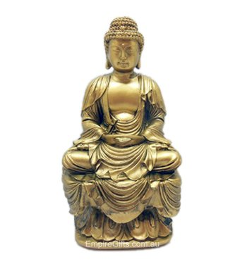 1pc Gold Meditating Buddha - Zen Buddha Feng Shui Enhancer