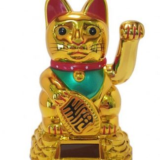 Gold Money Cat Waving Solar