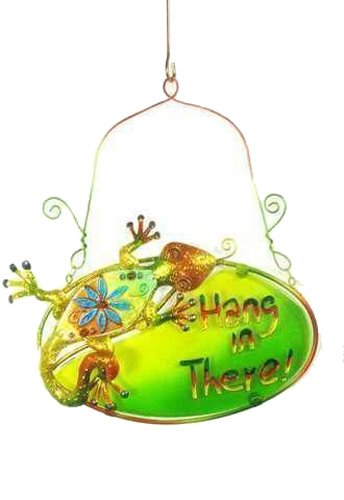 Lizard Wall Art Plaque Hang in There