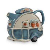 Teapot Caravan Blue Collectable