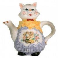 Teapot Cat Ceramic Teapot Collectable
