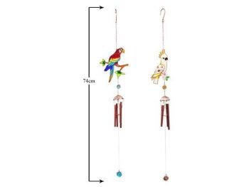 Parrot wind chime metal epoxy