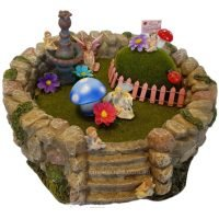 fairy garden rock village dispaly