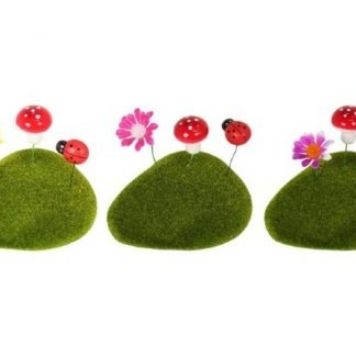 Mini Fairy Garden Artificial Moss Rocks 3 pack