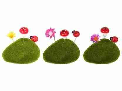 Mini Fairy Garden Artificial Moss Rocks 3 pack