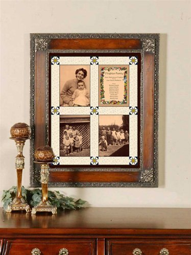 Memory Quilt by photo fabric transfer