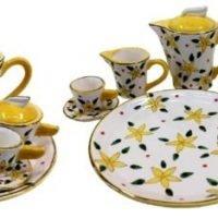 mini tea set yellow Frangipani