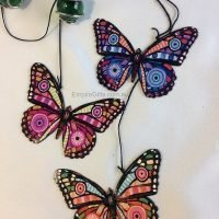 Butterfly Wind Chime Metal Garden Hanging Mobile