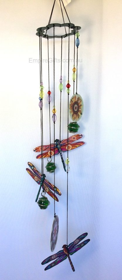Dragonfly Wind Chime Metal Garden Hanging Mobile-