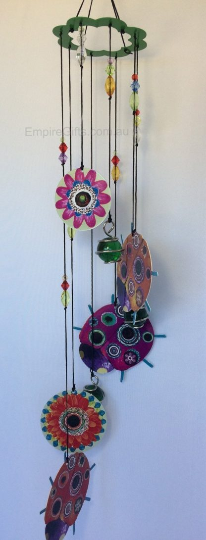 Ladybug Wind Chime Metal Garden Hanging Mobile