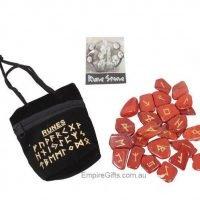 Runes Red Jasper Rune Stones
