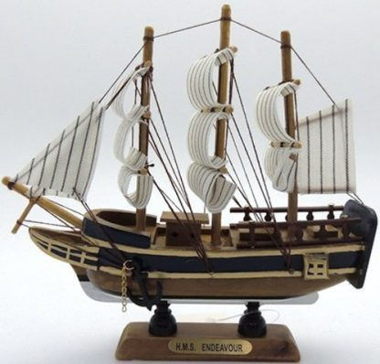 Ship the Endeavour Wooden Ship Collectable