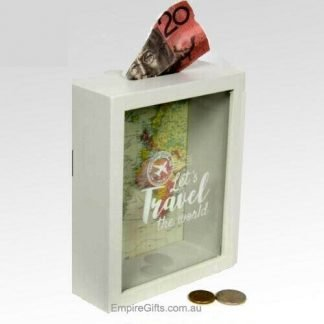 Travel Fund Wood Money Box Saving for Travel -1