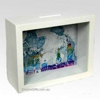 Travel Fund Wood Money Box Saving for Travel