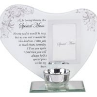 memorial frame + candle holder special mum