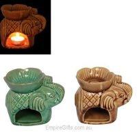 Elephant Oil Burner Fragrant Melts Aromatherapy Statue Ceramic