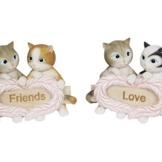 Cute Cats Kittens Inspirational Sign Love Friends Statue