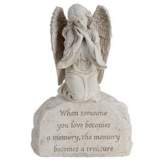 Angel Statue Inspirational Saying - When someone you love becomes a memory