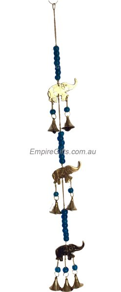 Brass Elephants & Bells Wind Chime