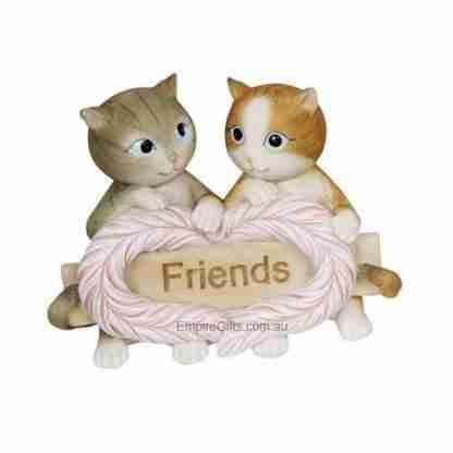 Cute Cats Kittens Inspirational Sign Love Friends Statue