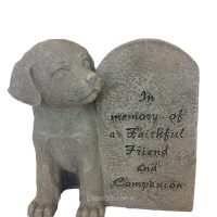 Dog Pet Memorial Plaque Statue Pet