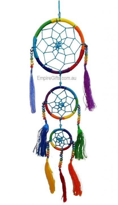 Dream Catcher Triple Mobile with Crystals & Tassels