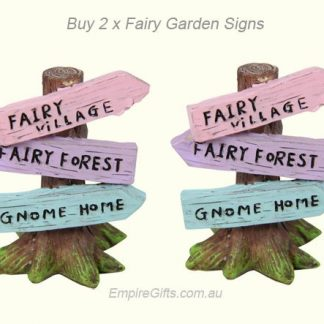 Fairy Garden Sign Post Novelty Display Collectables set 2