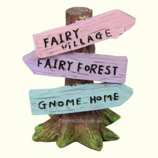 Fairy Garden Sign Post Novelty Display Collectables