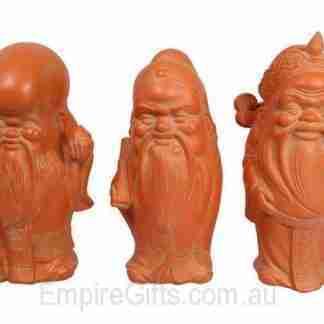 Fu Lu Shou Figurine 3 Wise Buddha Garden Statue