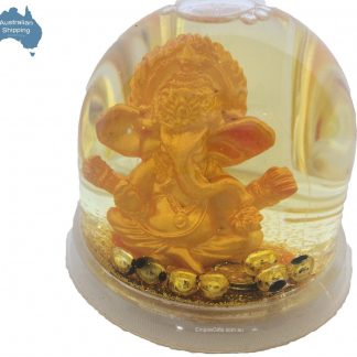 Ganesh Gold Waterball Pen Holder Feng Shui