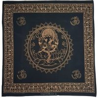 Ganesha Elephant God Black Altar Table Cloth Tapestry