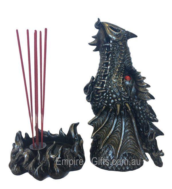 Gothic Dragon Incense Burner Decorative Dragon Statue