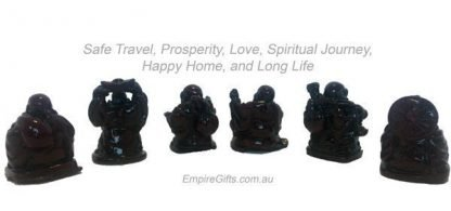 Happy Laughing Buddha Set of 6 Red